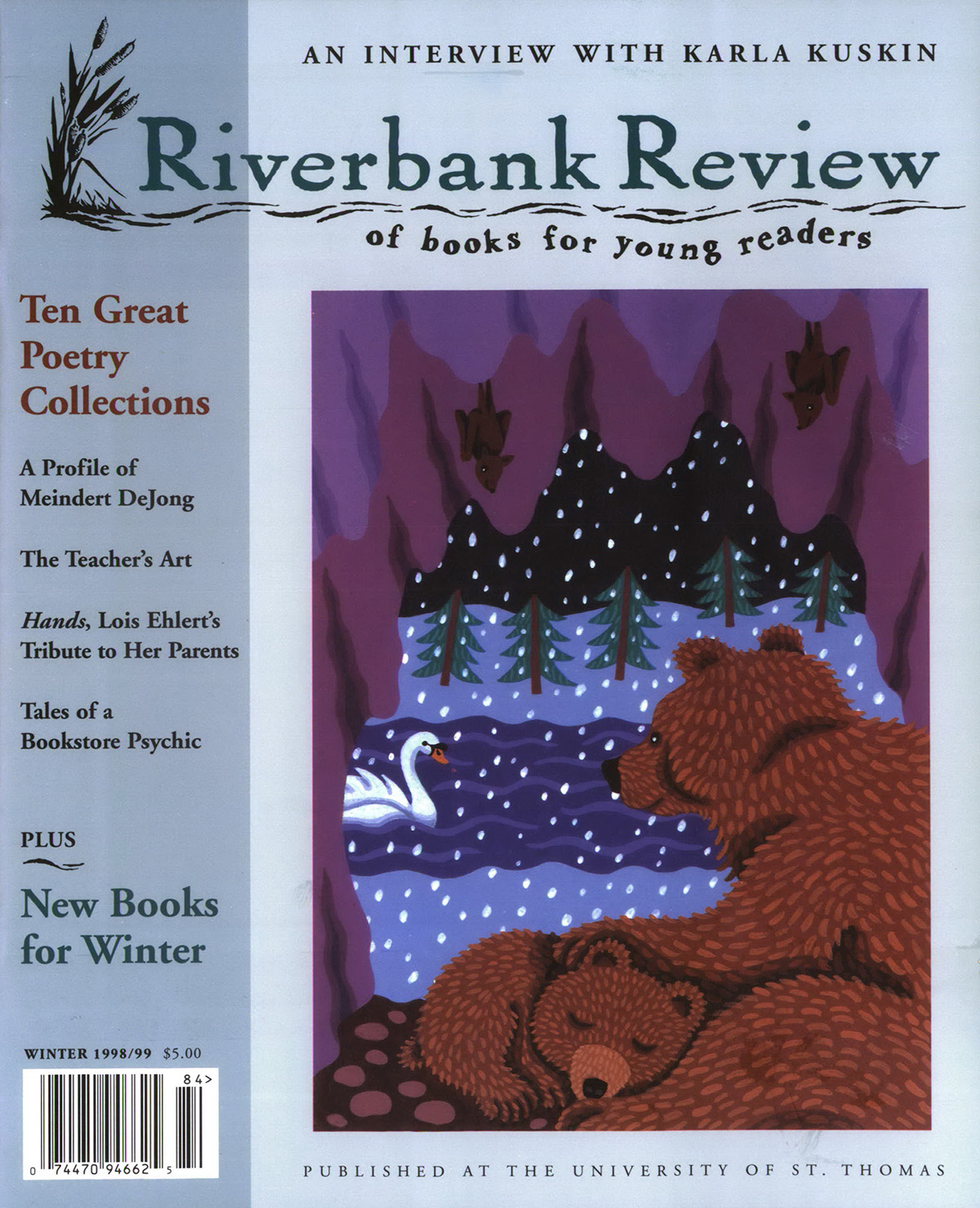 Winter 1998: Jeanette Winter cover