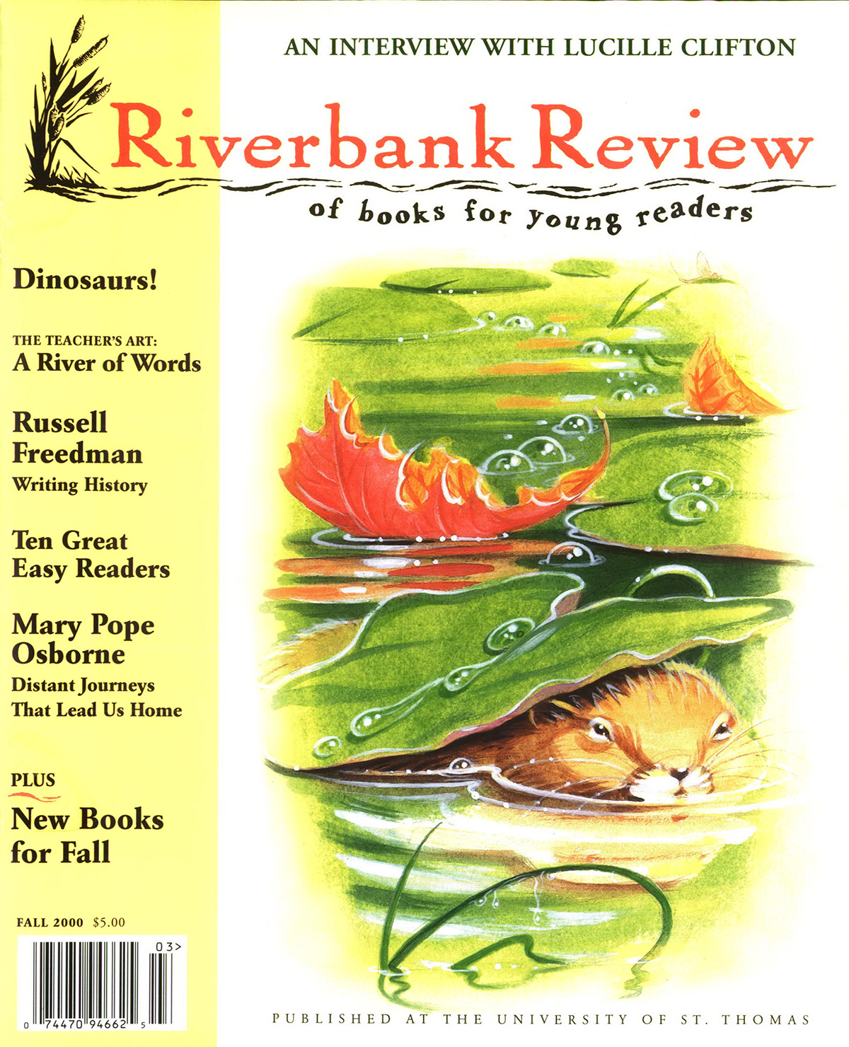 Fall 2000: Jim Arnosky cover