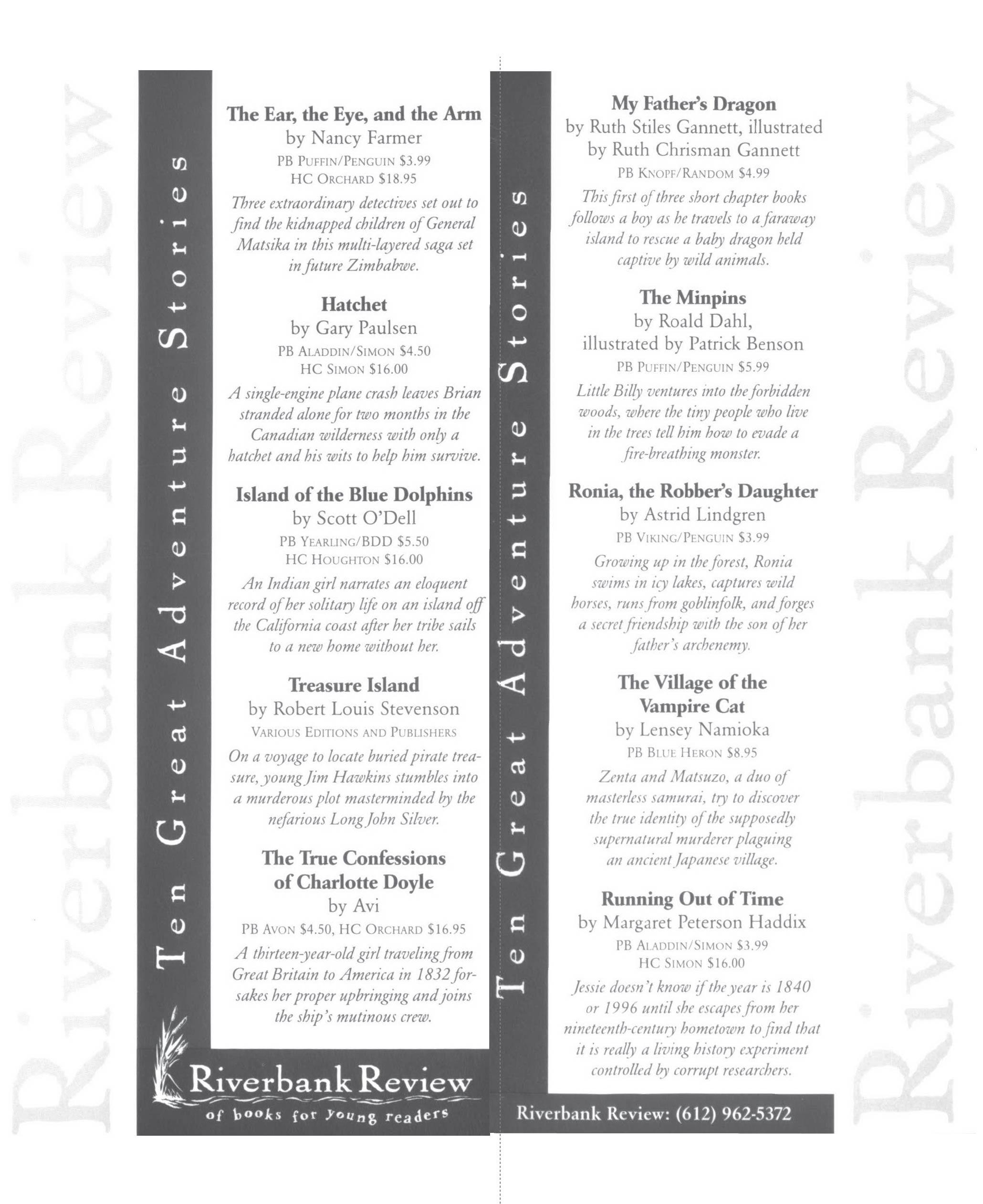 Riverbank Review bookmark thumbnail