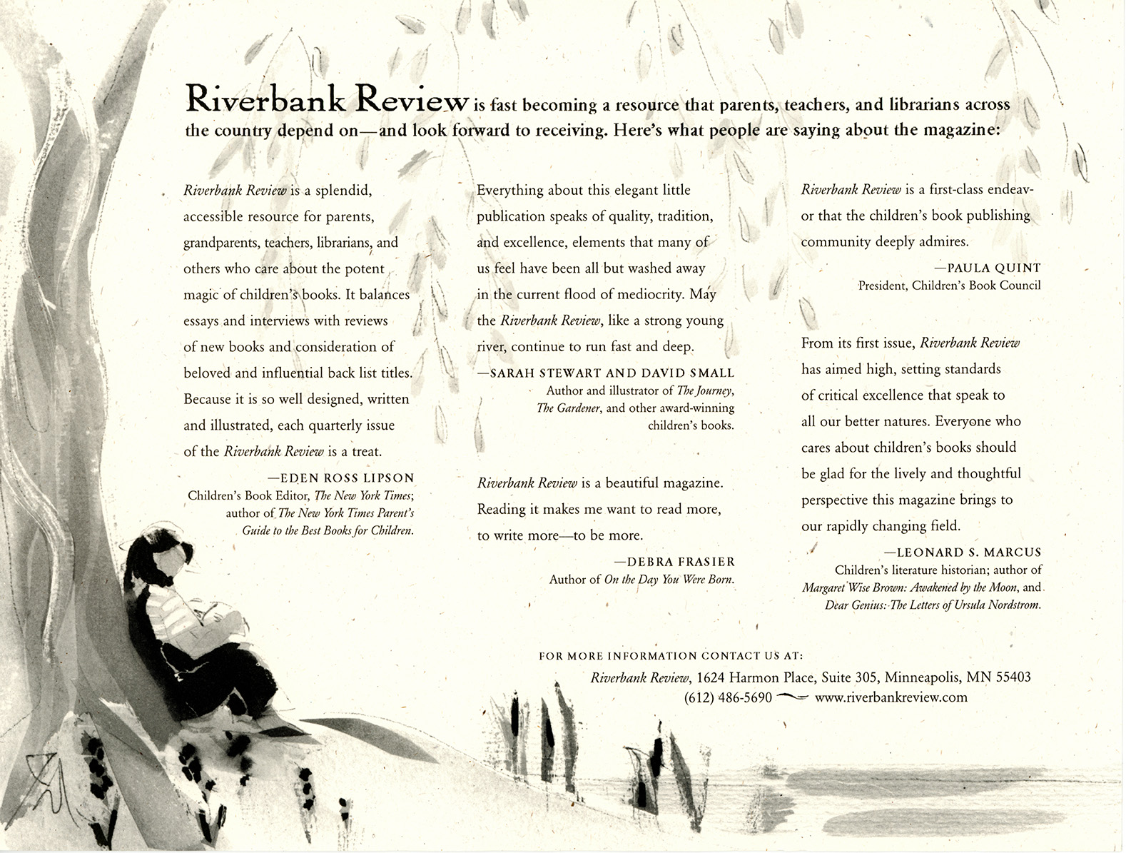 Riverbank Review testimonials