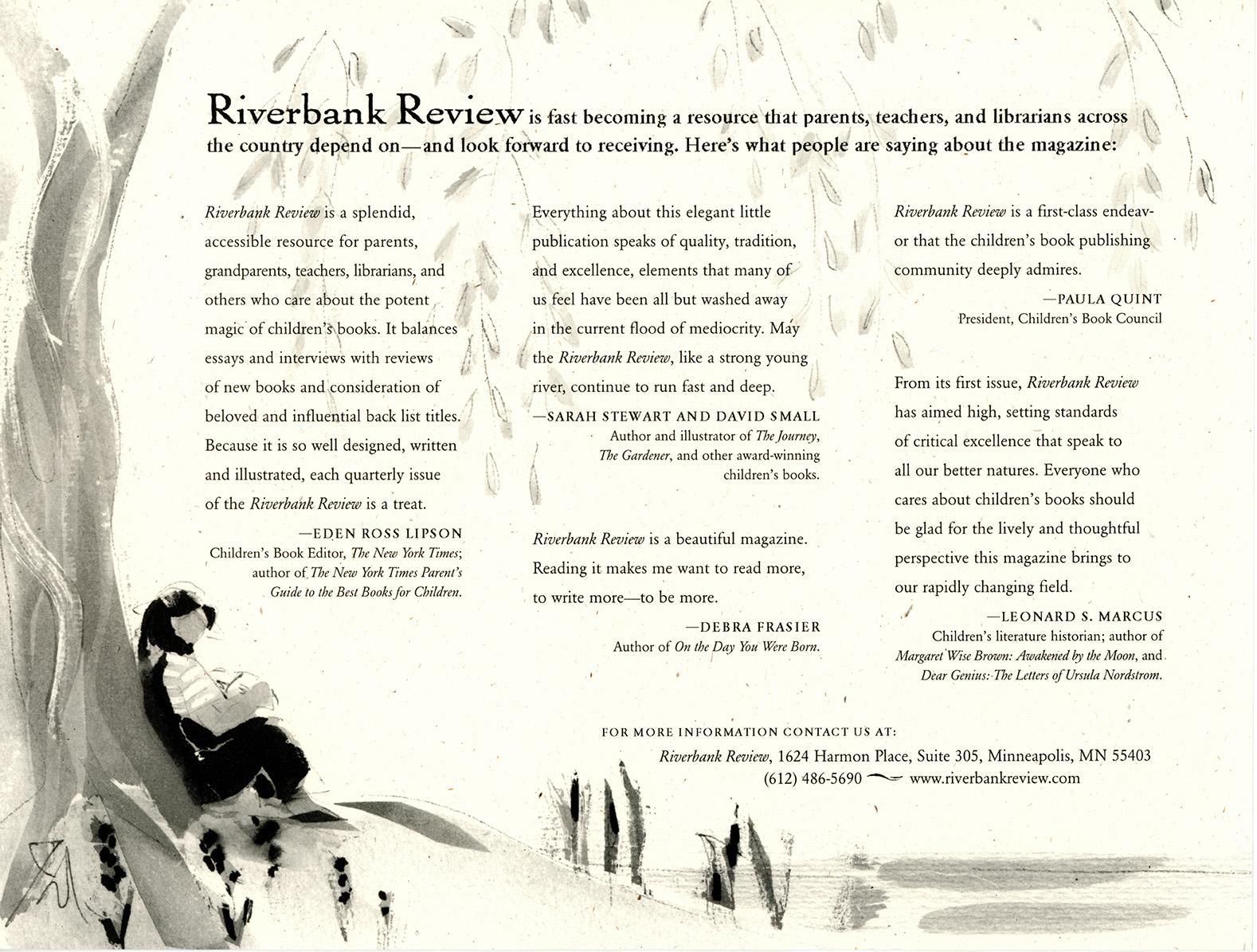 Riverbank Review testimonials